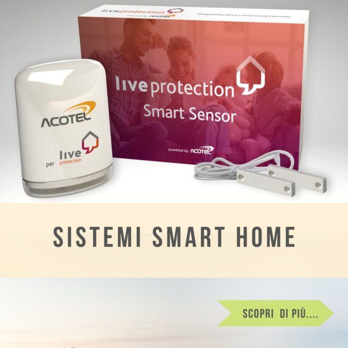 Live protection sistema smart home per la casa. Controllo della casa anche da remoto