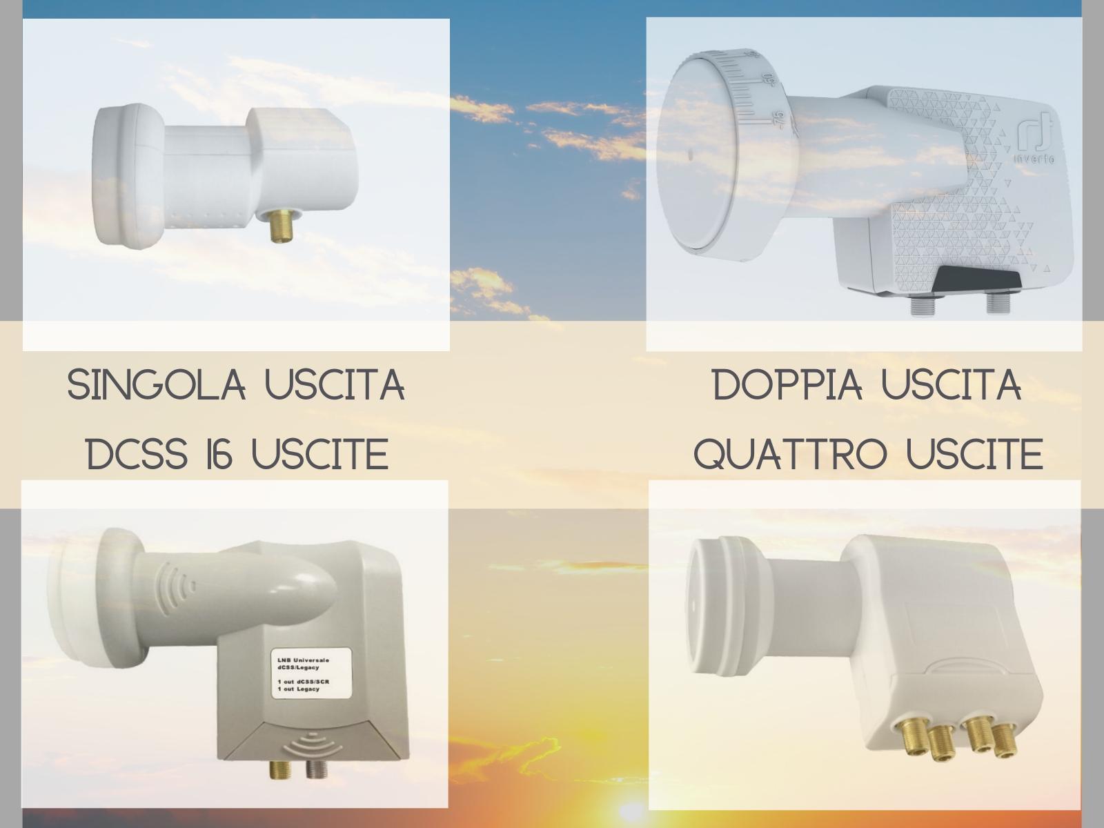 Convertitori per satellite dal singolo al centralizzato