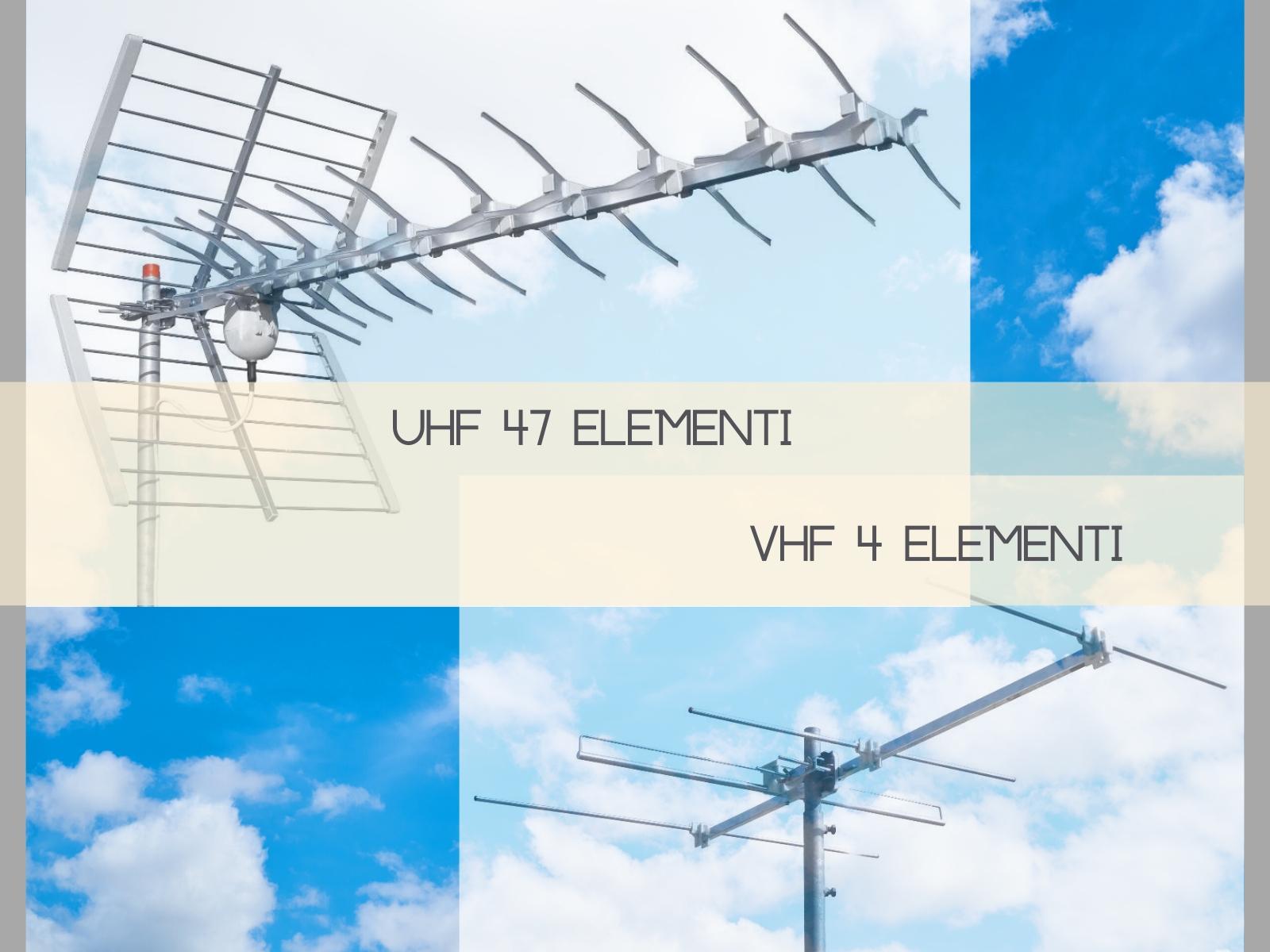 Impianto VHf + Uhf digitale terrestre