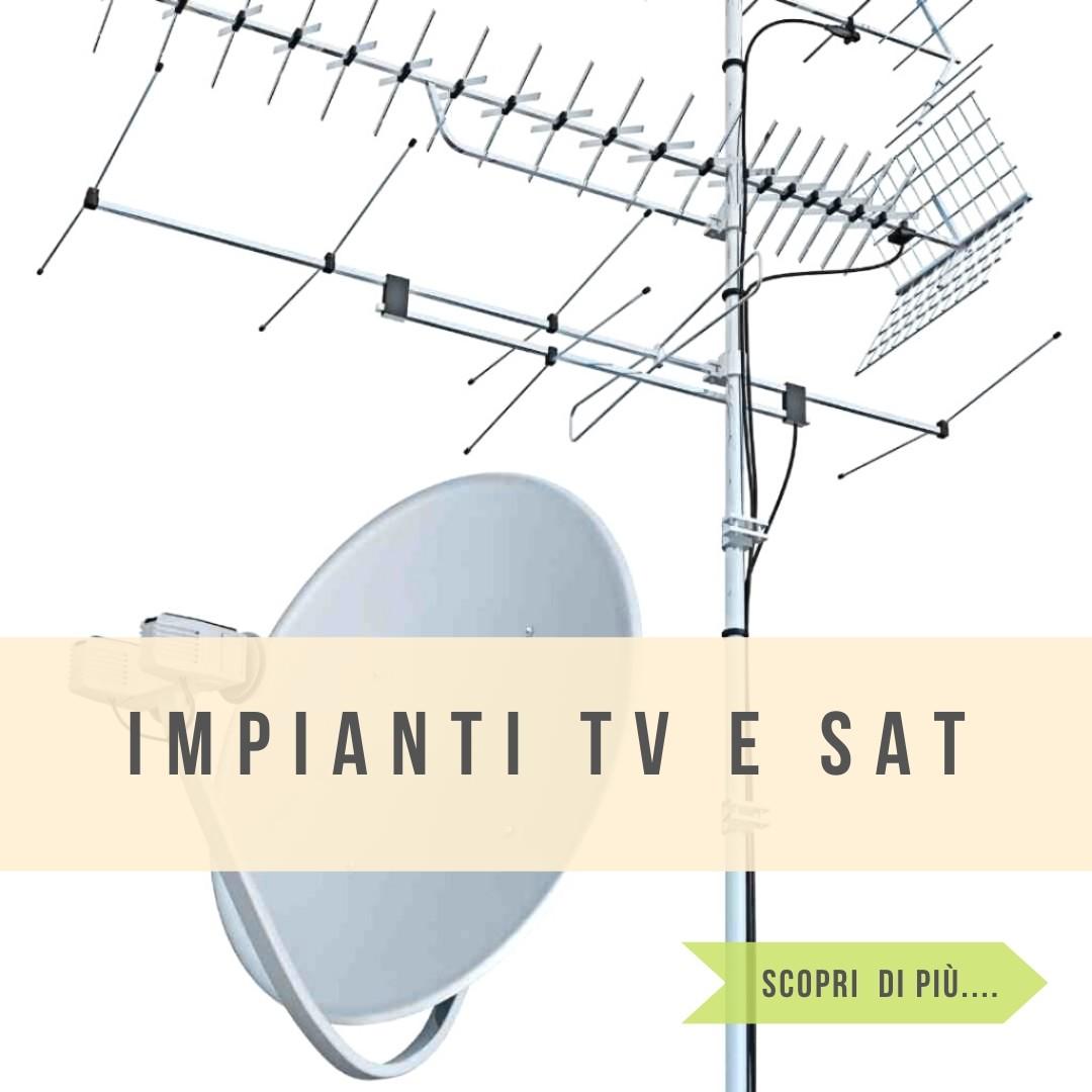 Impianti tv e satellite singoli e centralizzati rame e fibra ottica