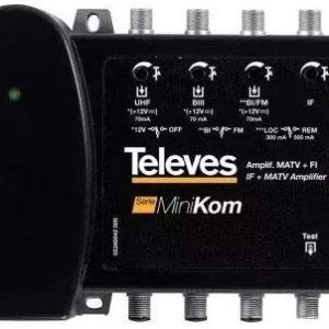 TVV5396 Centralino 4 ingressi FM/1-3-uhf da 40DB